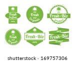 set of fresh and organic labels | Shutterstock .eps vector #169757306