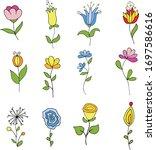Doodle Botanical Outlines For...
