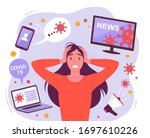woman in a panic from a... | Shutterstock .eps vector #1697610226