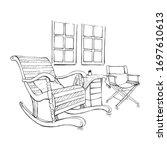 illustration decorate interiors ... | Shutterstock .eps vector #1697610613