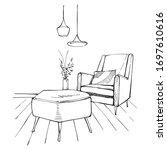 illustration decorate interiors ... | Shutterstock .eps vector #1697610616