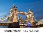 Tower Bridge At Night Twilight...