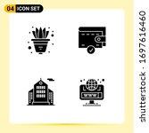 pack of modern solid glyphs... | Shutterstock .eps vector #1697616460