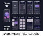 vector pack of fitness mobile...