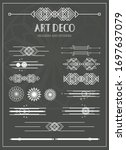 a collection of decorative art... | Shutterstock .eps vector #1697637079