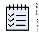 checklist vector flat color...