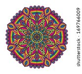 color circular pattern   raster ... | Shutterstock . vector #169766009
