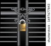 corona virus covid 19 lock down ... | Shutterstock .eps vector #1697677843