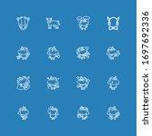 editable 16 horned icons for... | Shutterstock .eps vector #1697692336