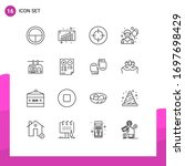 16 Thematic Vector Outlines An...