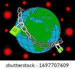 coronavirus lockdown symbol.... | Shutterstock .eps vector #1697707609