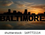 baltimore skyline reflected... | Shutterstock . vector #169772114