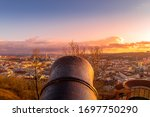 Historical Cannon Aiming At Th...