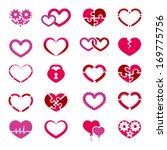 heart icon set illustration on... | Shutterstock . vector #169775756