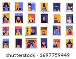stay home motivational banner.... | Shutterstock .eps vector #1697759449