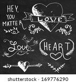 chalk board hand drawn... | Shutterstock .eps vector #169776290
