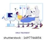 virus treatment concept vector...   Shutterstock .eps vector #1697766856