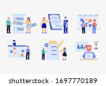 time management planning and... | Shutterstock .eps vector #1697770189