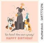 happy birthday. vector... | Shutterstock .eps vector #1697772196