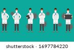set doctor character.medical... | Shutterstock .eps vector #1697784220