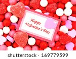 happy valentines day card on... | Shutterstock . vector #169779599