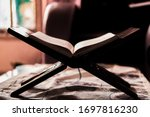 Quran On A Wooden Book Stand At ...