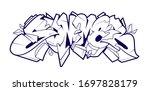 summer graffiti lettering... | Shutterstock .eps vector #1697828179