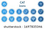 Editable 14 Cat Icons For Web...