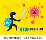 stick figure man in medical... | Shutterstock .eps vector #1697861890