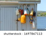 Lobster Buoys On The Wall In...