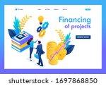 isometric business financial...   Shutterstock .eps vector #1697868850
