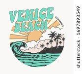 california venice beach... | Shutterstock .eps vector #1697893549