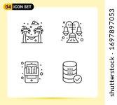 set of 4 vector filledline flat ... | Shutterstock .eps vector #1697897053