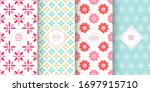 cute floral patterns. set of... | Shutterstock .eps vector #1697915710