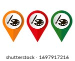 paint brush with palette icon.... | Shutterstock .eps vector #1697917216