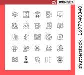 set of 25 modern ui icons...