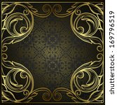 vintage border frame engraving... | Shutterstock . vector #169796519