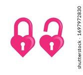 Sweet And Cute Pink Love Lock...