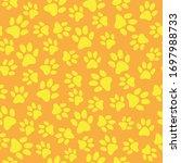 cat pas print seamless pattern... | Shutterstock .eps vector #1697988733