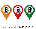 map pointer with gas station... | Shutterstock .eps vector #1697989510