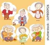 doodle grandmas.   Shutterstock .eps vector #169800926