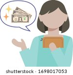 an illustration of woman who... | Shutterstock .eps vector #1698017053