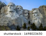 Mount Rushmore On A Blue Sky...