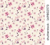 seamless pattern with pink... | Shutterstock .eps vector #169802573
