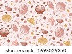 Seamless Pattern Of Shells And...