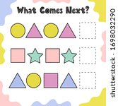 what comes next puzzle for kids.... | Shutterstock .eps vector #1698032290