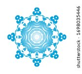 circle snowflake ornaments.... | Shutterstock .eps vector #1698035446