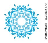 circle snowflake ornaments.... | Shutterstock .eps vector #1698035470