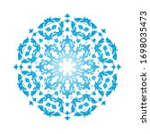circle snowflake ornaments.... | Shutterstock .eps vector #1698035473