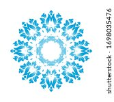circle snowflake ornaments.... | Shutterstock .eps vector #1698035476
